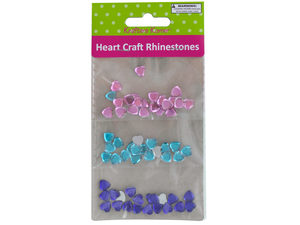 Wholesale: Faceted Heart Craft Rhinestones