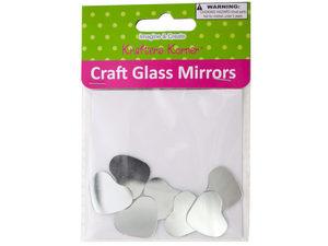 Wholesale: Mini Heart Shape Craft Glass Mirrors