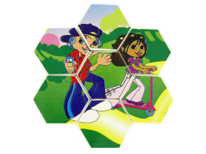 Wholesale: Two sided small Pop Kids puzzle