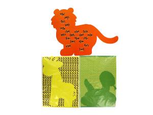 Wholesale: Weaving safari animal mats, set of 12