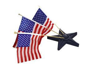 Wholesale: Resin star flag holder