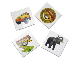 Wholesale: Exploration jungle temporary tattoos, pack of 70
