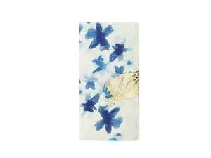 Wholesale: Blue and White Floral Napkin 20 Pk