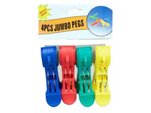 Wholesale: 4 Piece Jumbo Plastic Peg