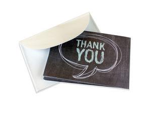 Wholesale: 10 Count Speech Bubble Thank You Cards Set