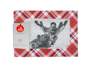 Wholesale: 20 Count Red Plaid Photocards
