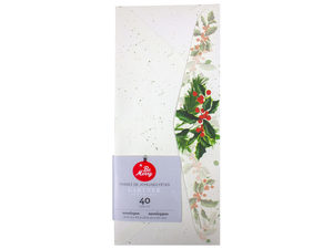 Wholesale: 40 Count Holly Envelopes