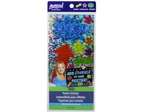 Wholesale: ArtSkills 100 Pc Sparkle Shapes Poster Stickers