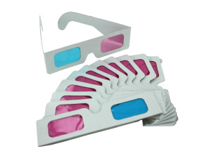 Wholesale: Paper 3D glasses, pack of 12