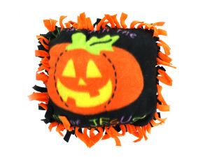 Wholesale: Fleece Christian Pumpkin Tied Pillow Craft Kit