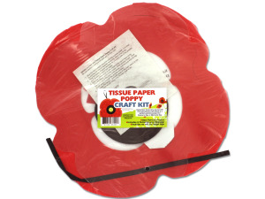 Wholesale: Tissue Paper Poppy Craft Kit