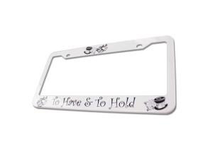 Wedding License Plate Frame