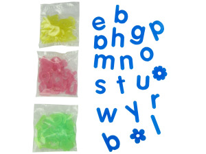 Wholesale: 90 Frosted Alphabet Shapes