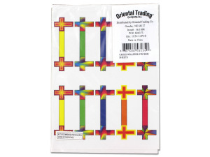 Wholesale: Cross Wrapper Sticker Sheets