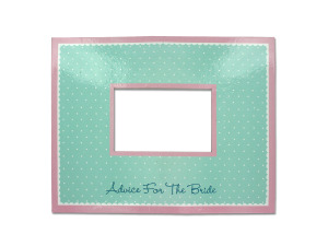 Bridal Bliss Advice Mat Photo Frame