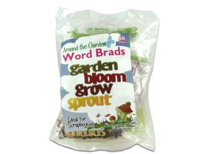 Wholesale: 60 In The Garden Word Brads