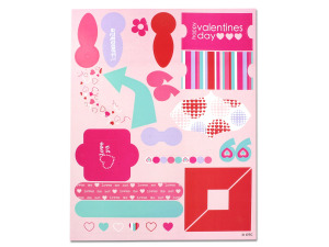 Wholesale: Valentine's Cardstock Stickers