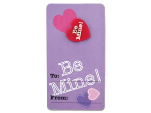 Wholesale: Valentine Girl Pins On Cards
