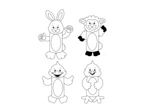 Wholesale: Design Your Own! Easter Paper Roll Characters