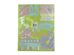 Wholesale: 3 Sheets Of Easter Cardstock Stickers