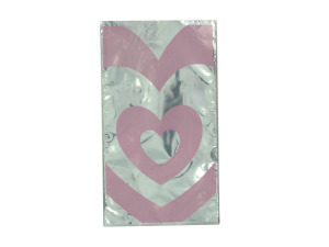 Wholesale: Valentine Pink Heart Goody Bags