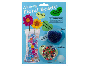Wholesale: Floral Beads Blue & Mixed Colors