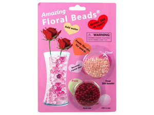 Wholesale: Floral Beads Pink & Clear