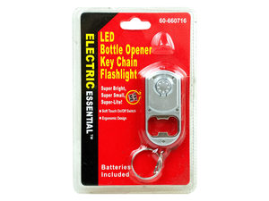 Bottle Opener Key Chain with LED Flashlight
