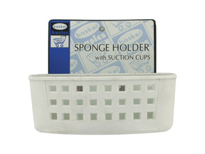 Sink sponge holder with suction cups