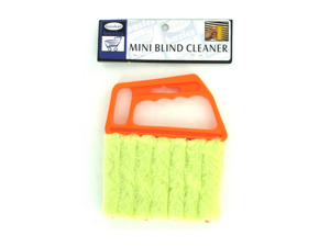 Mini blind cleaner with 7 rollers