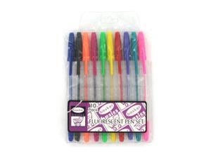 Wholesale: Fluorescent pen set, pack of 10 pens