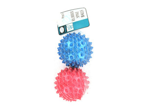 Rubber spike balls, set of 2
