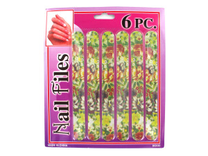 Wholesale: Emery Board Set With Flower Design