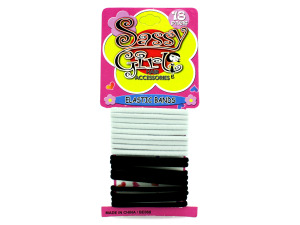 Black & White Hair Bands Set