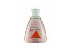 Travel size watermelon scented shampoo