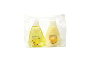 Wholesale: Moisturizing shampoo and conditioner travel pack in case