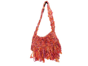 Handmade Sherbet Colored Over-the-Shoulder Bag