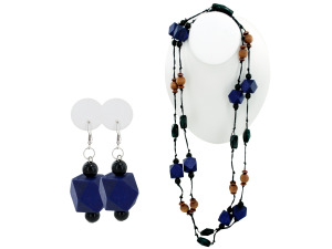 Faceted Beaded Necklace & Dangle Earrings Set