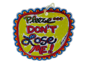 Wholesale: Dont lose me luggage tag