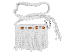 Handmade Cream Colored Over-The-Shoulder Bag