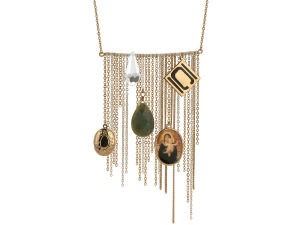 Nikki Chu Gold Tone Opera Length Tassle Necklace