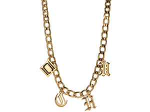 Authentic Nikki Chu Gold Chunky Charm Necklace