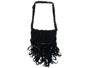 Black Hand Knit Bag
