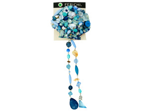 Wholesale: Hair Clip with Assorted Blue Beads