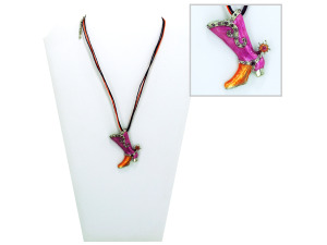 Necklace with boot