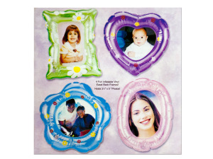 Inflatable Floral Print Photo Frames