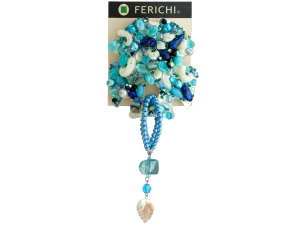 Wholesale: Blue Beaded Hair Accessory