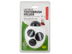 Wholesale: White Ladybug Toothbrush Holder