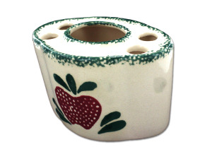Wholesale: Country design ceramic toothbrush holder, assorted