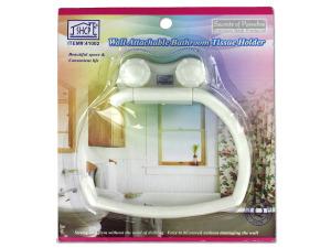 Wall attachable bathroom tissue holder
